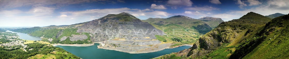 Dinorwic Slate Quarry from Derlwyn
